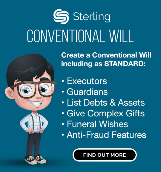 Sterling conventional Will asset list